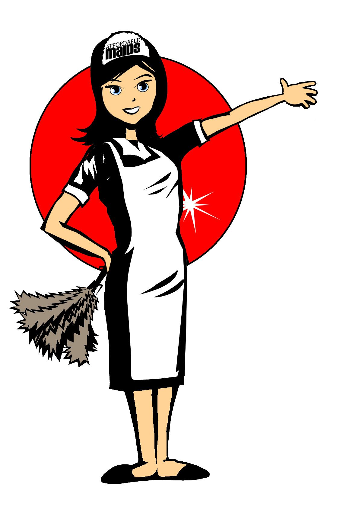 Affordable maids service housekeeping. Maid clipart office cleaning services