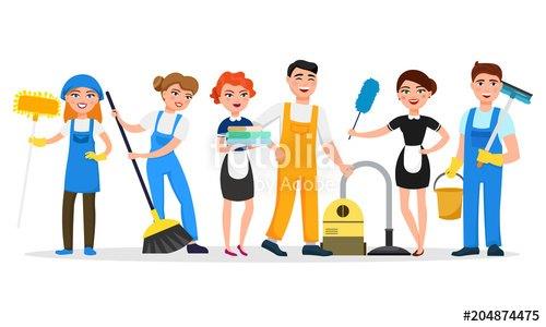 Housekeeping clipart housekeeping team. Staff