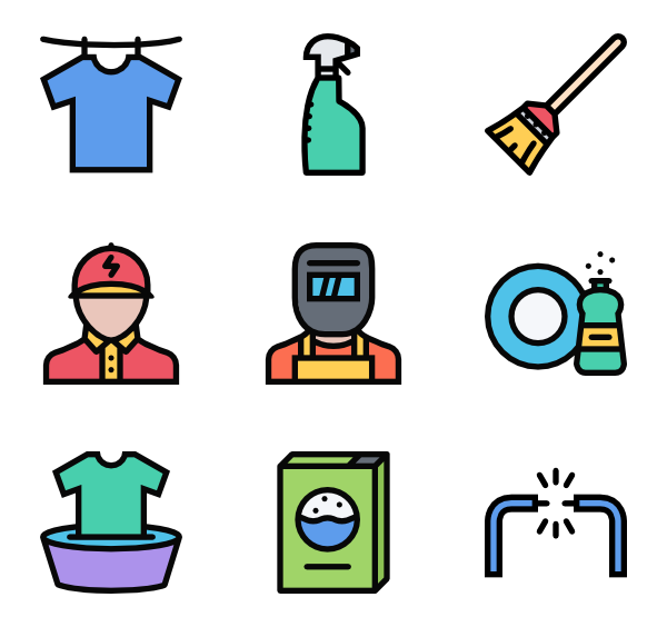 Tools icons free vector. Housekeeping clipart housekeeping tool