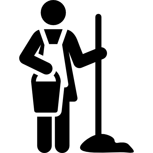 Maid clipart housekeeping staff. Service cleaning cleaner computer