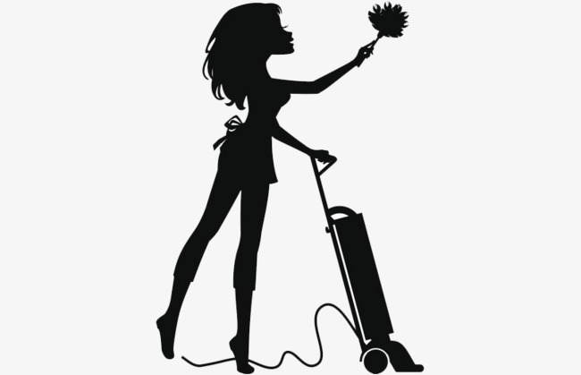 Housekeeping clipart maid. Download black and white