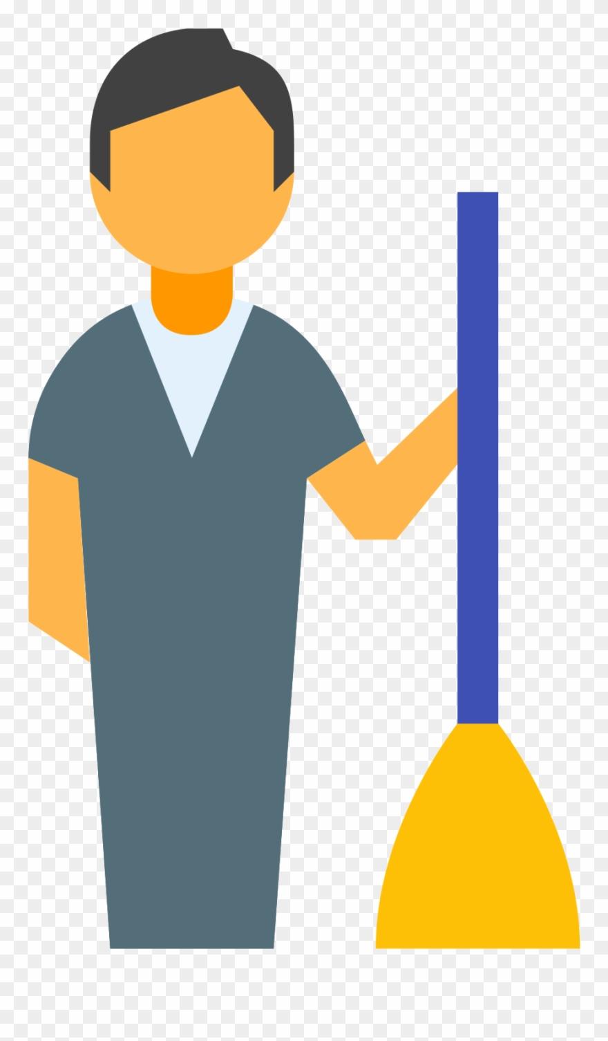Housekeeper icon zelador . Housekeeping clipart male