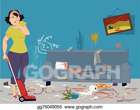 Housekeeping clipart mess. Clip art vector house