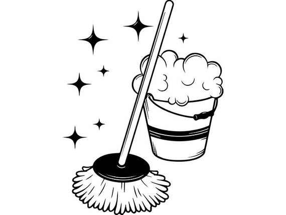 Cleaning maid service housekeeper. Housekeeping clipart mop bucket
