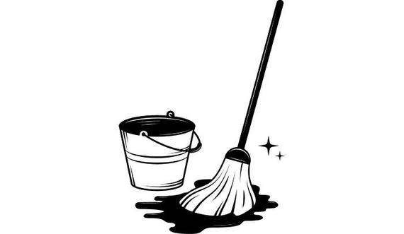 Housekeeping clipart mop bucket. Cleaning maid service housekeeper