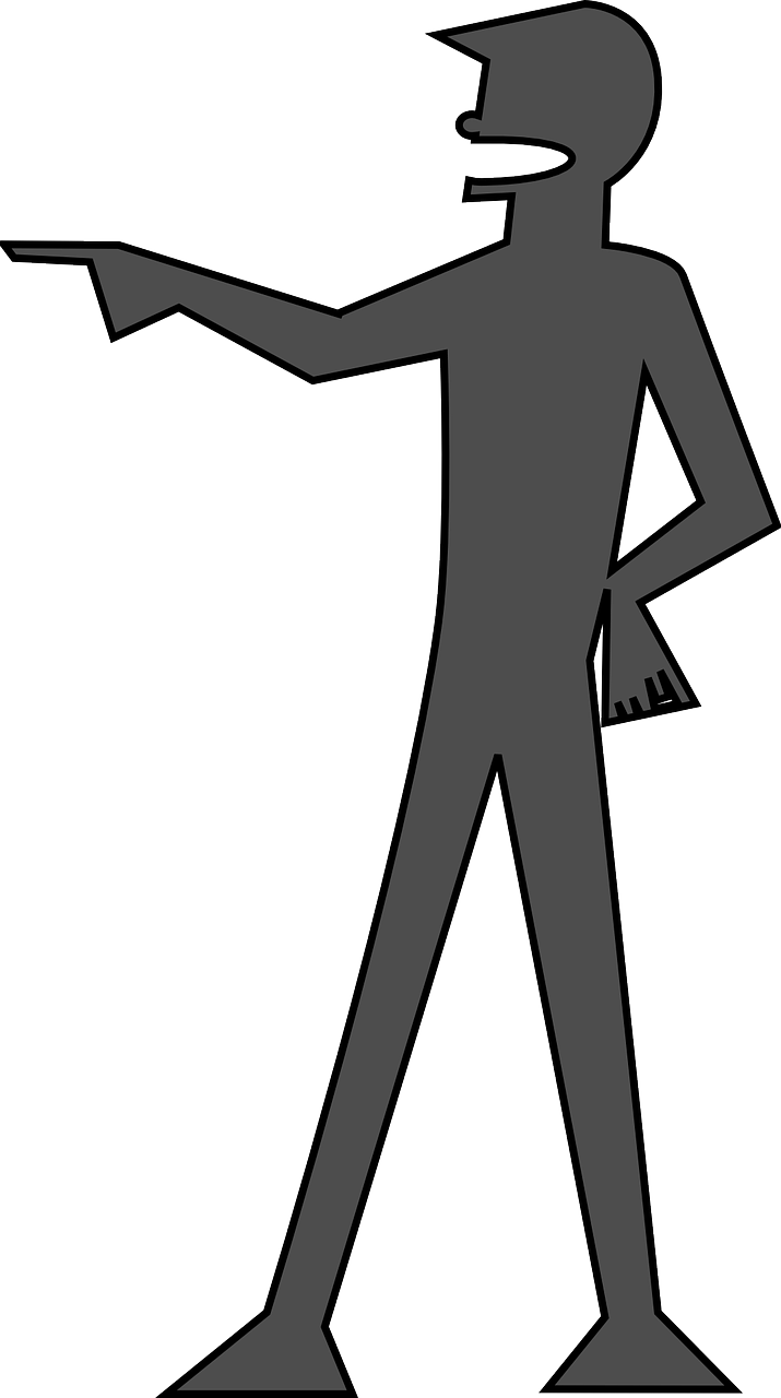 Man you silhouette pointing. Housekeeping clipart neatness
