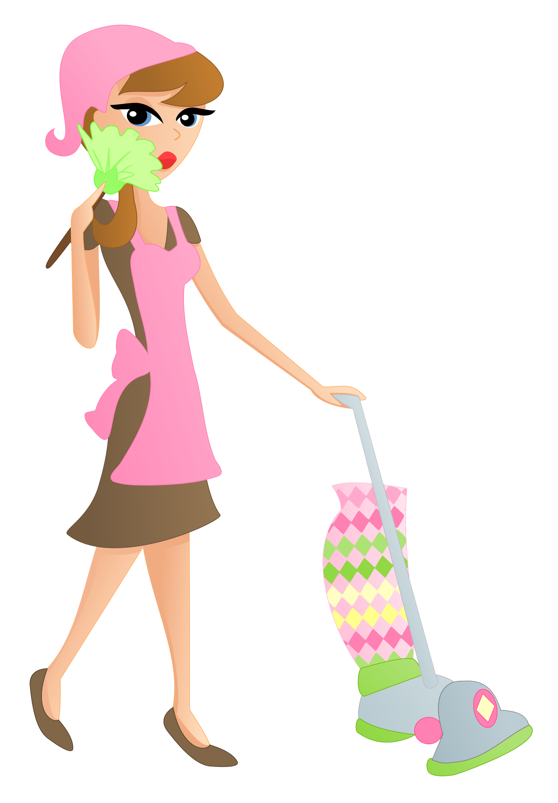 Cleaner service transprent png. Maid clipart cleaning lady