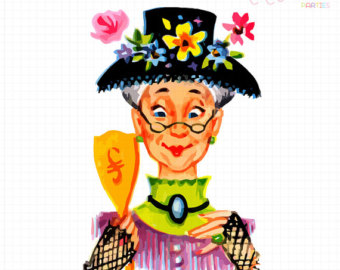 Housekeeping clipart old maid. Free picture of a