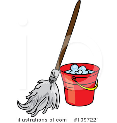 Housekeeping clipart pail. Mopping illustration by pams