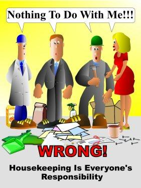 Housekeeping clipart poor housekeeping. Safety poster house keeping