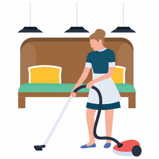 hotel service staff. Housekeeping clipart room attendant