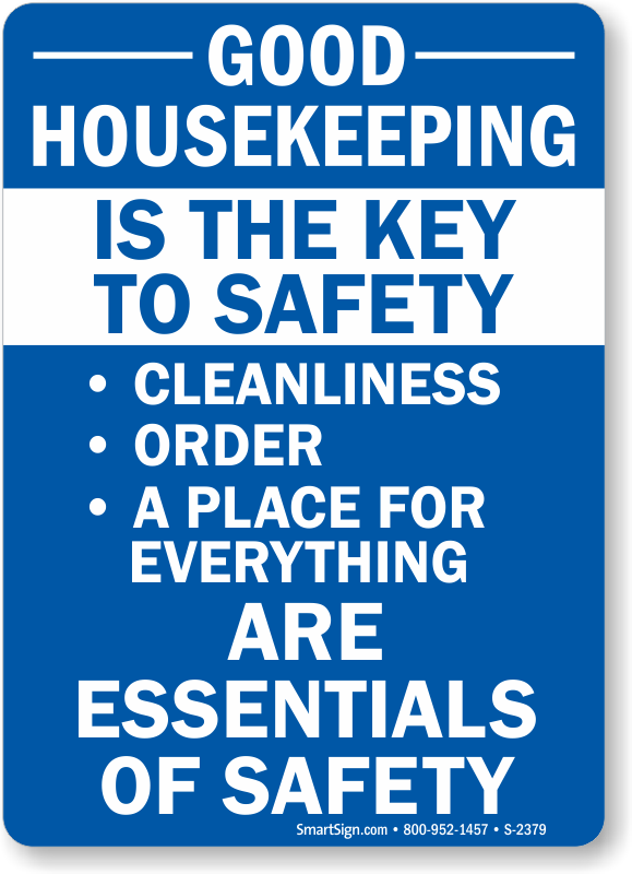 Housekeeping clipart safety. Smartsign plastic sign legend