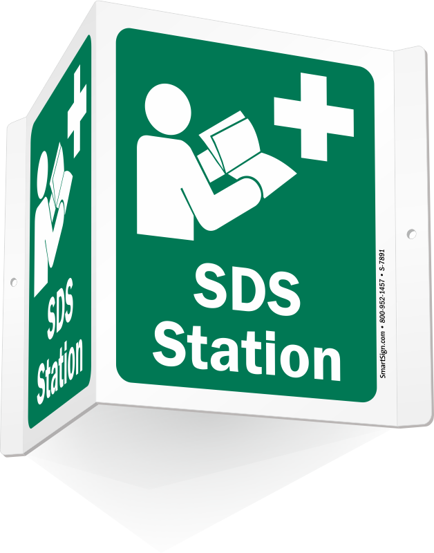 Housekeeping clipart safety signage. Sds signs msds material