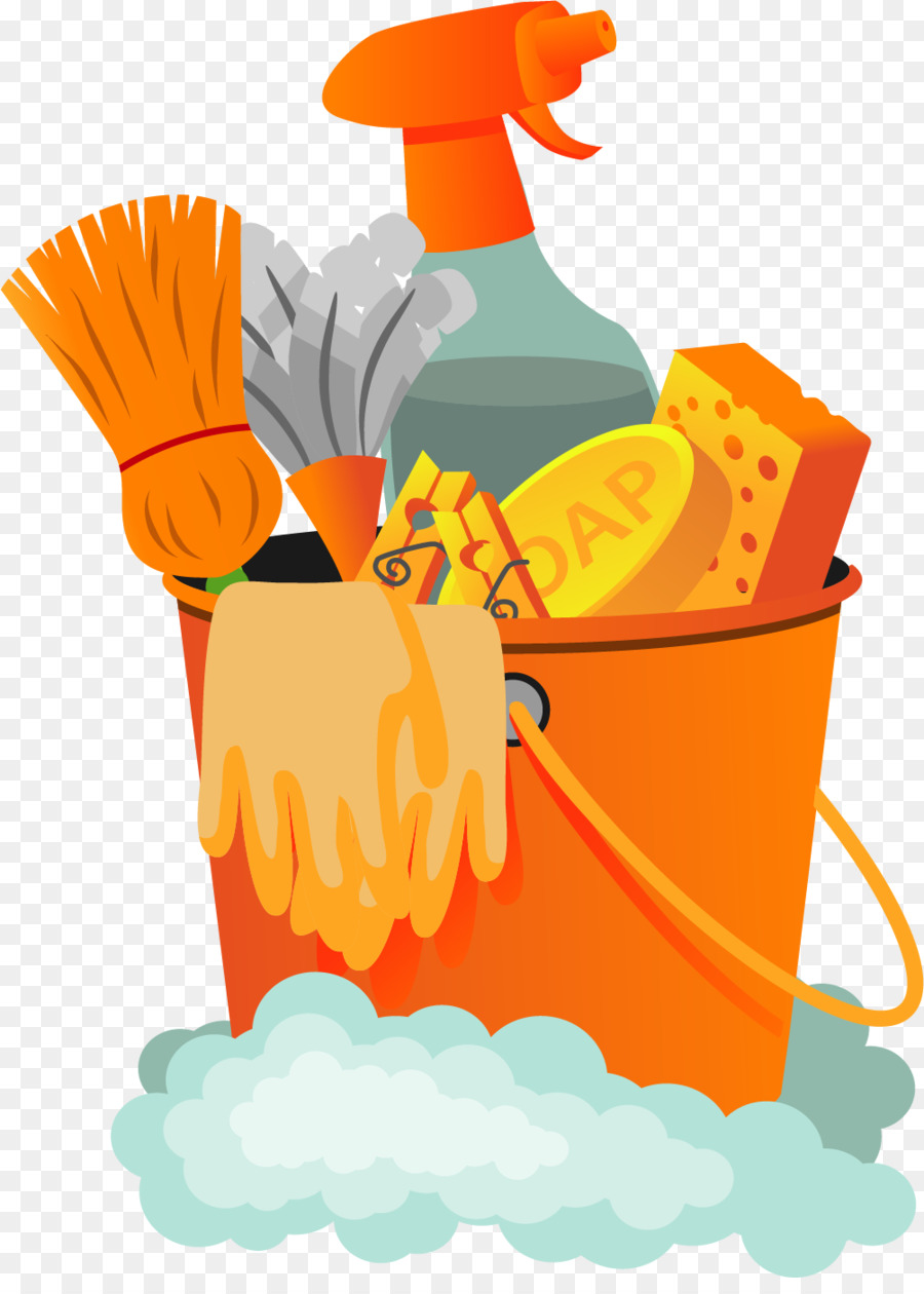 Housekeeping clipart spring. Background cleaning illustration yellow