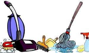 For the clean space. Housekeeping clipart thank you