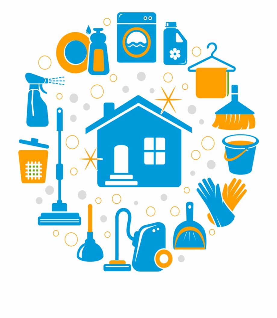 Housekeeping clipart transparent. House clean icons cleaning