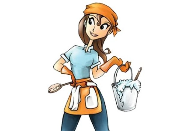 Housekeeping clipart woman. Cleaning lady free download