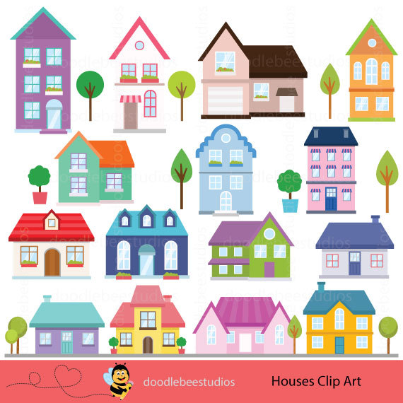 Clip art buildings cottage. Houses clipart