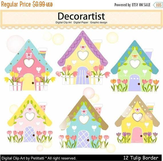 Summer house clip art. Houses clipart easter