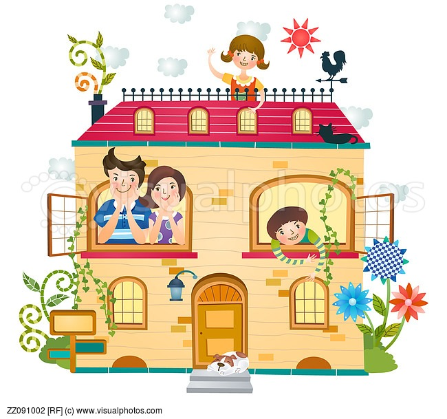 Houses clipart family. House clip art library