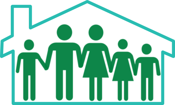 Home cliparts zone . Houses clipart family