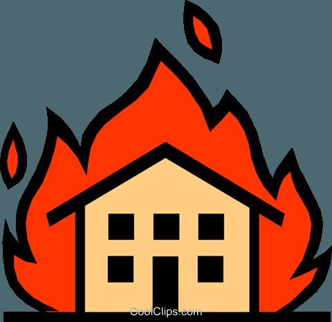 Houses clipart fire. Symbol house building transparent