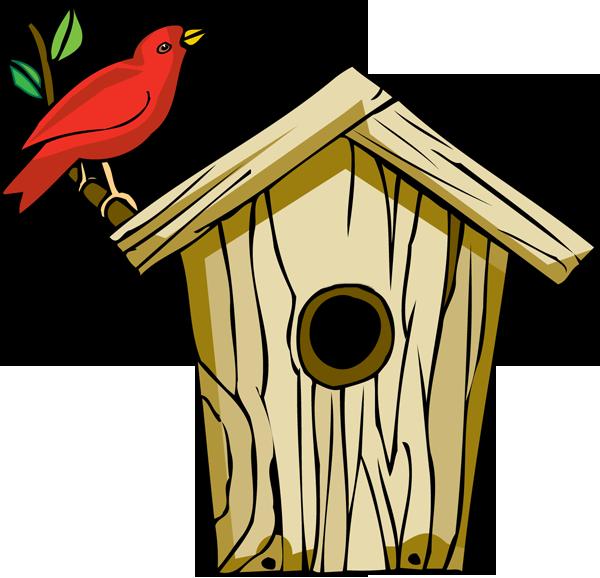 Bird house pet free. Houses clipart flat