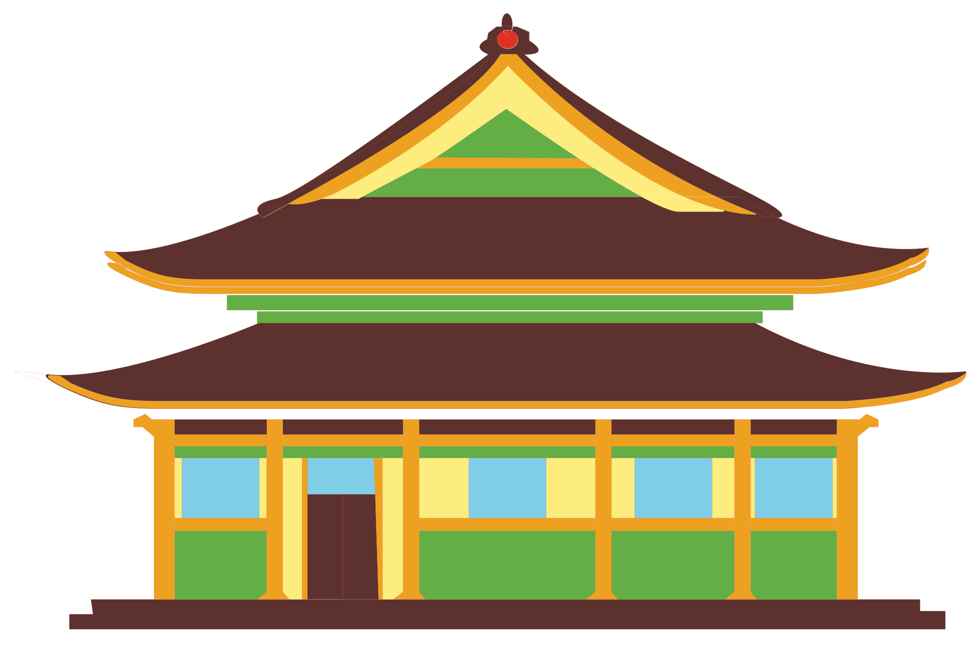 House pencil free on. Palace clipart oriental