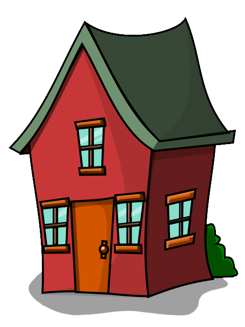 Houses clipart kid. Of a red house