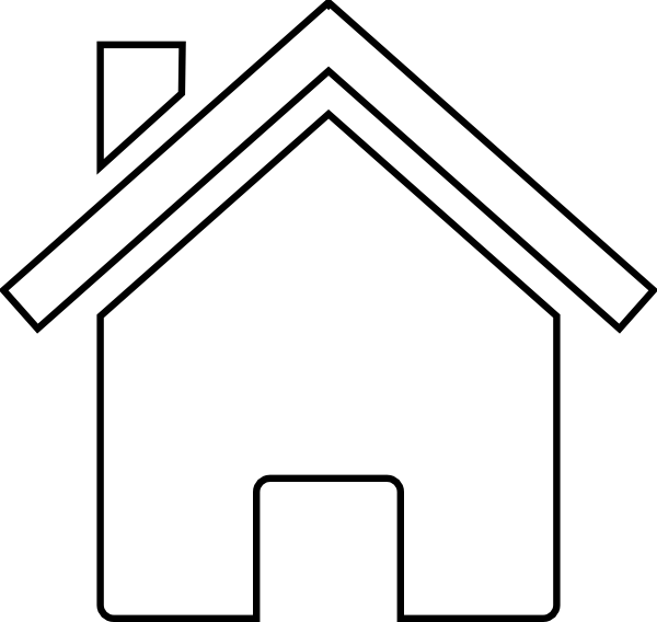 House outline black and. Houses clipart logo