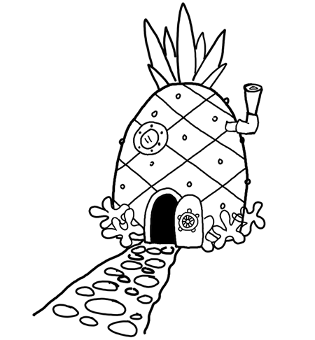 Houses clipart pineapple. How to draw spongebob