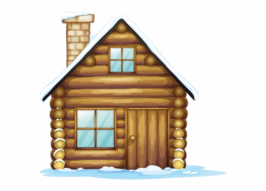 Winter house christmas clip. Houses clipart snowing