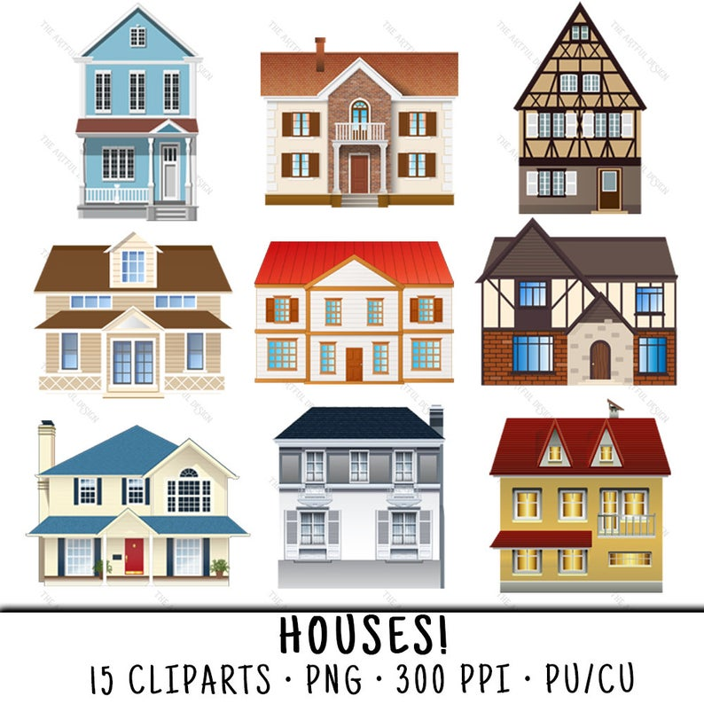 House clip art png. Houses clipart wedding