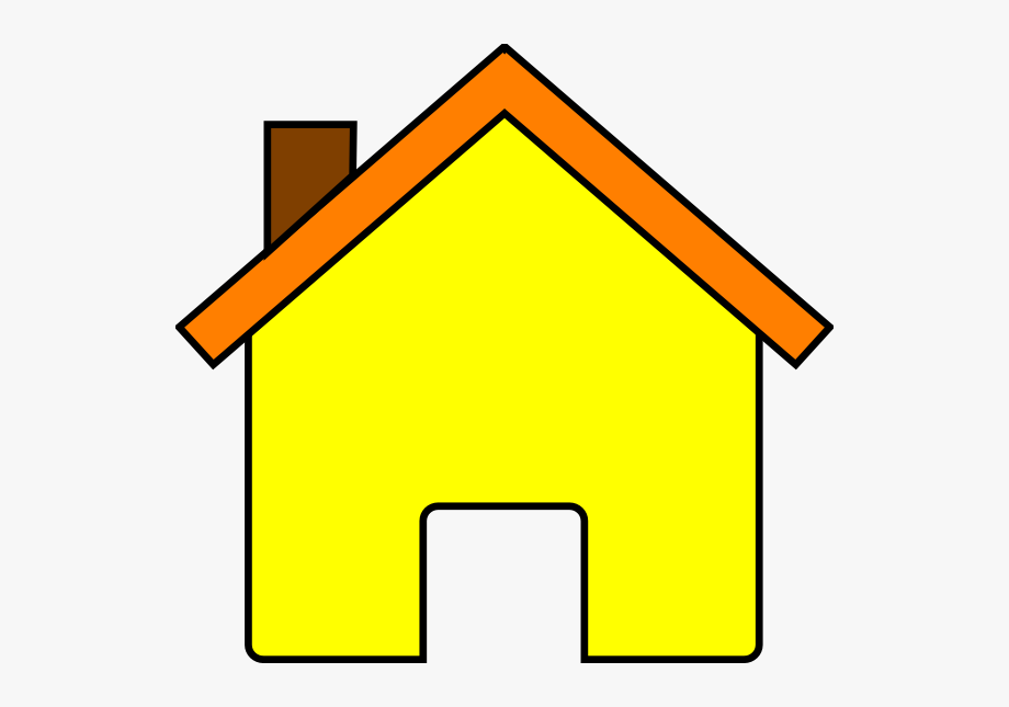 House clip art at. Houses clipart yellow