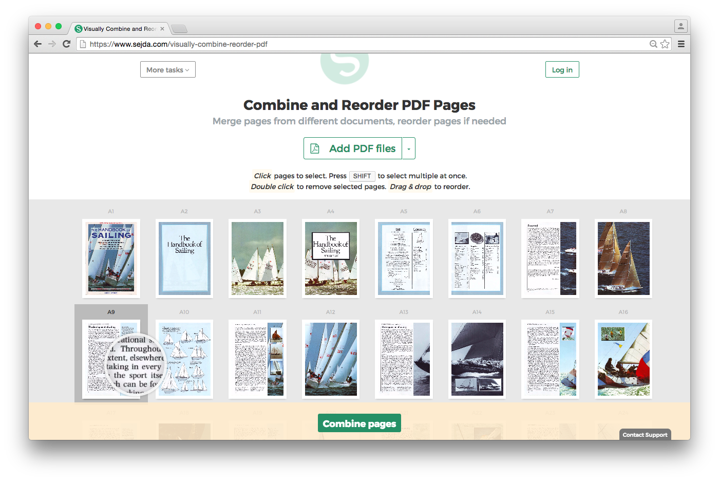 Visually and reorder pdf. How to combine png files