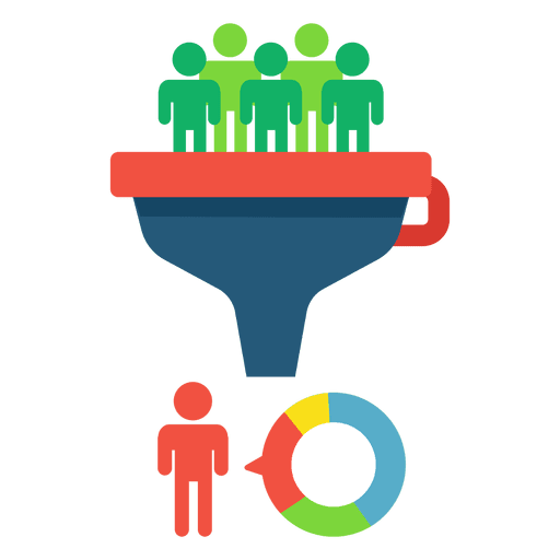 Funnel conversion concept transparent. How to convert png to vector