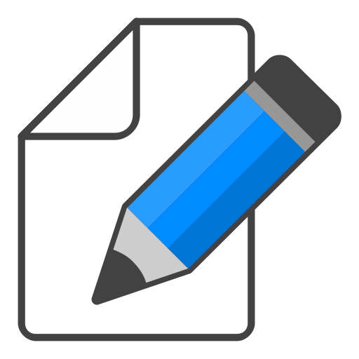 How to edit png images. Icon blue pencil free