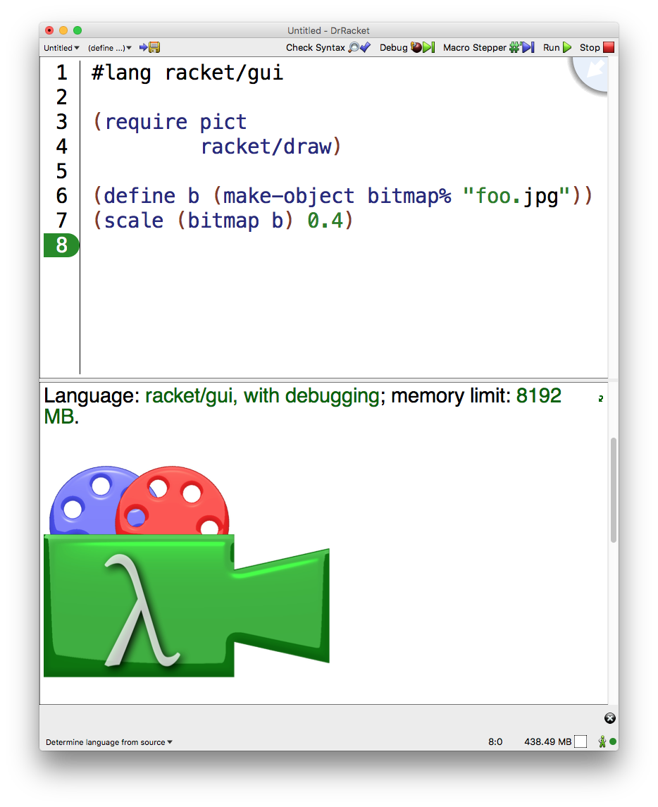 Racket manipulating jpeg stack. How to make png files