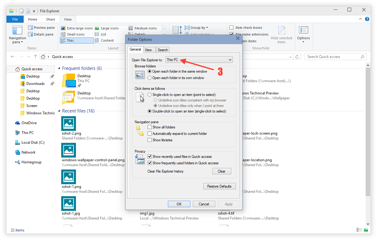 How to open a png file in windows 10. Configure explorer this pc