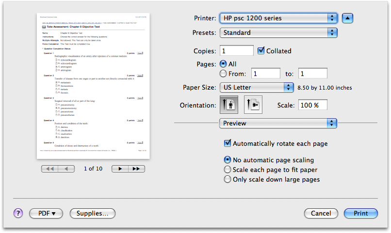 How to print png files. Only even odd pages