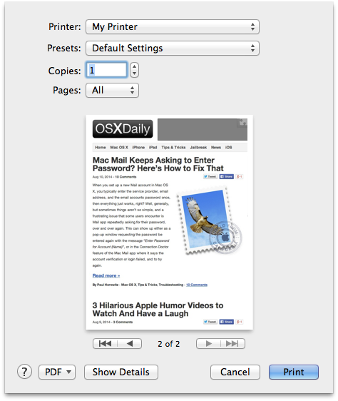 How to print png files. Directly from mac desktop