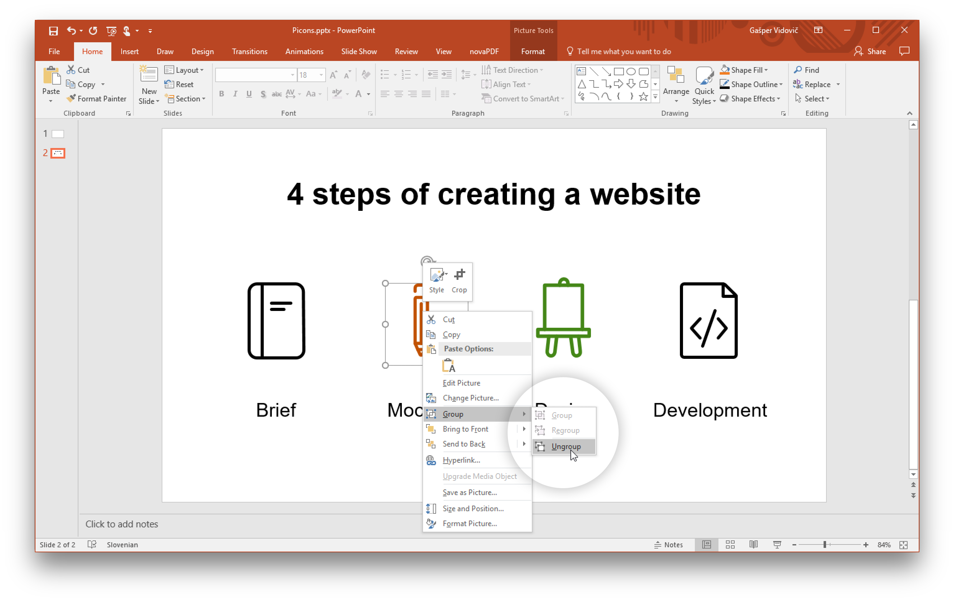 How to turn a png into a vector. Using icons in powerpoint