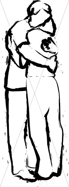 Hug clipart. Church people