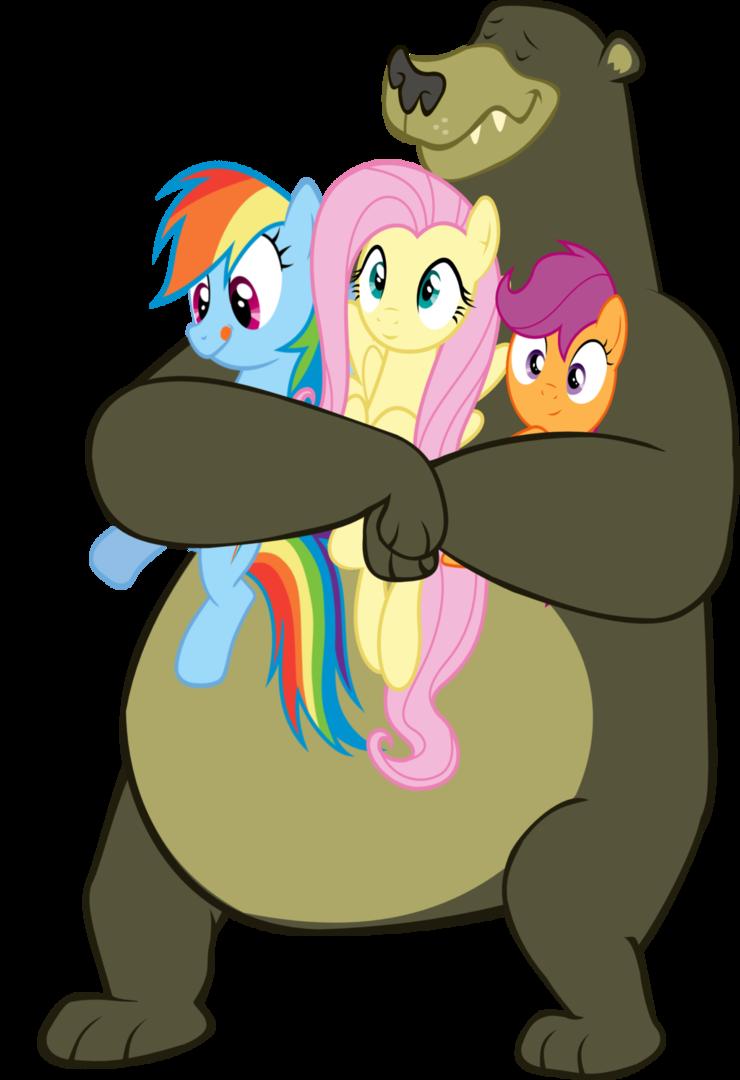 Harry hugs his pony. Hug clipart bear hug