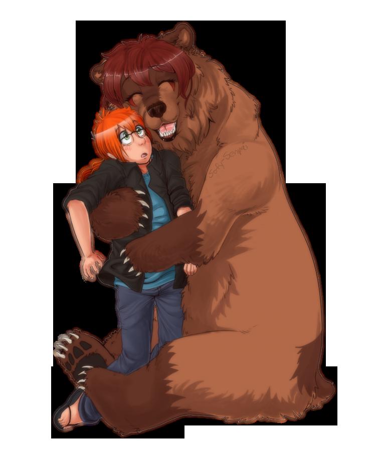 A big by patsuko. Hug clipart bear hug