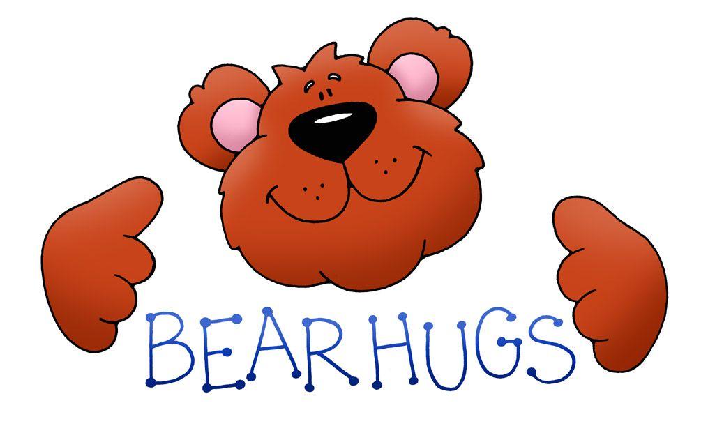 Hug clipart bear hug. Teddy hugs kid weird