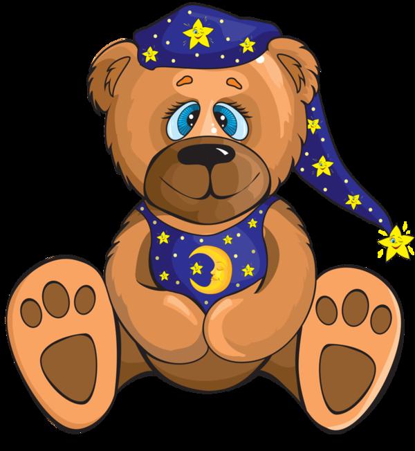 Teddy bear clip art. Kiss clipart bedtime