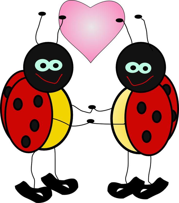 Free hug bug cliparts. Ladybug clipart heart