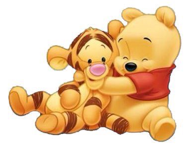 Hugging clipart character winnie the pooh. Tiger n tigers in