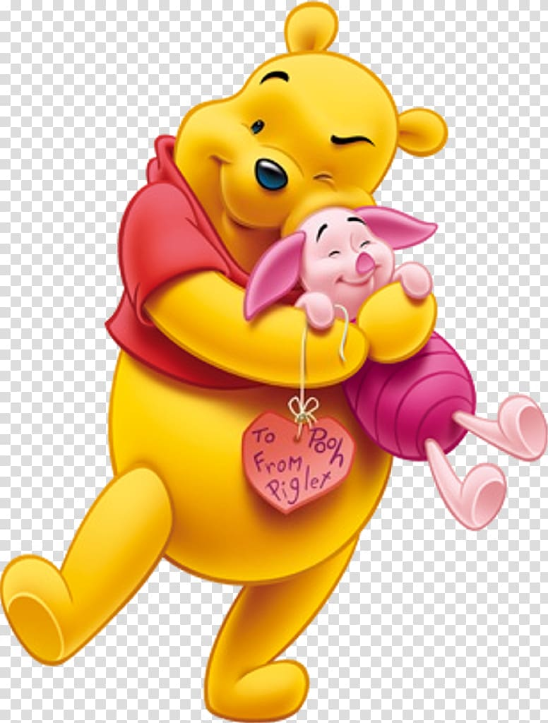 Hugging clipart character winnie the pooh. Piglet illustration